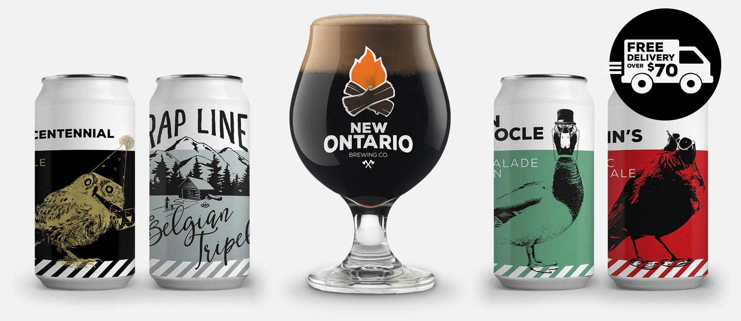 The New Ontario Brewry beer and merch